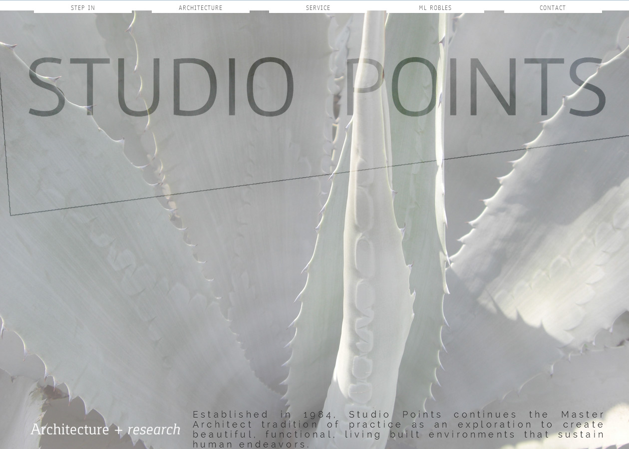 studio points architecture + research website