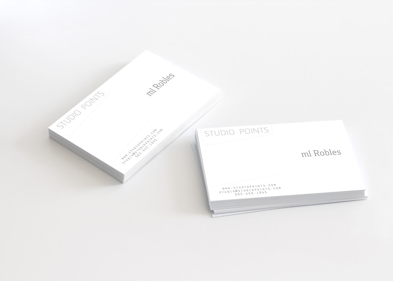 studio points architecture and research business card